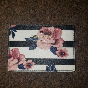 Kate Spade Hyde Lane Rose Stripe Card Holder
